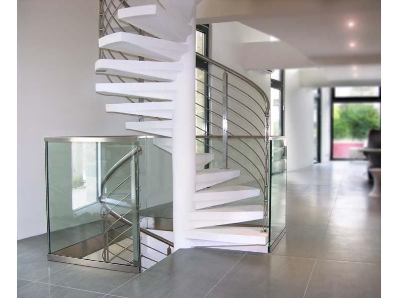 inox design garde corps escalier fixe fin