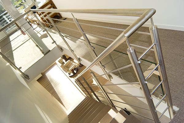 rampe escalier inox design