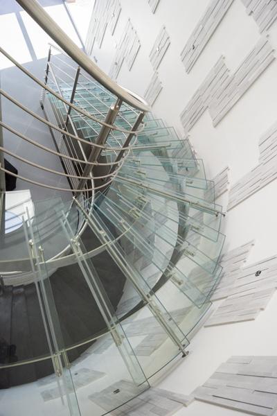 escalier inox et verre - inoxDesign