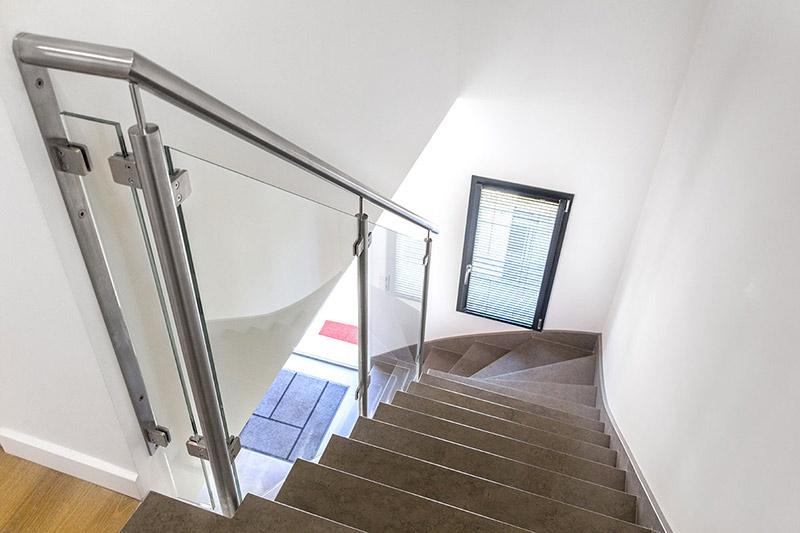 rampe escalier en verre