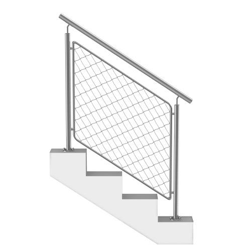 rampe et rambarde escalier inox sur mesure. Black Bedroom Furniture Sets. Home Design Ideas