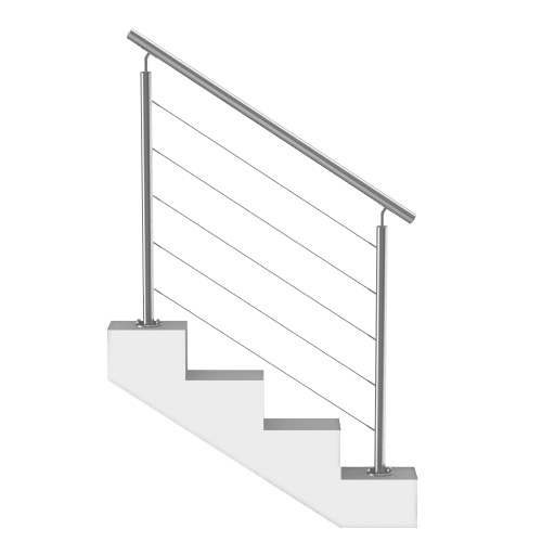 rampe escalier cables inox sur mesure. Black Bedroom Furniture Sets. Home Design Ideas