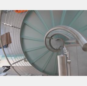 escalier inox design marches en verre  inoxdesign 1