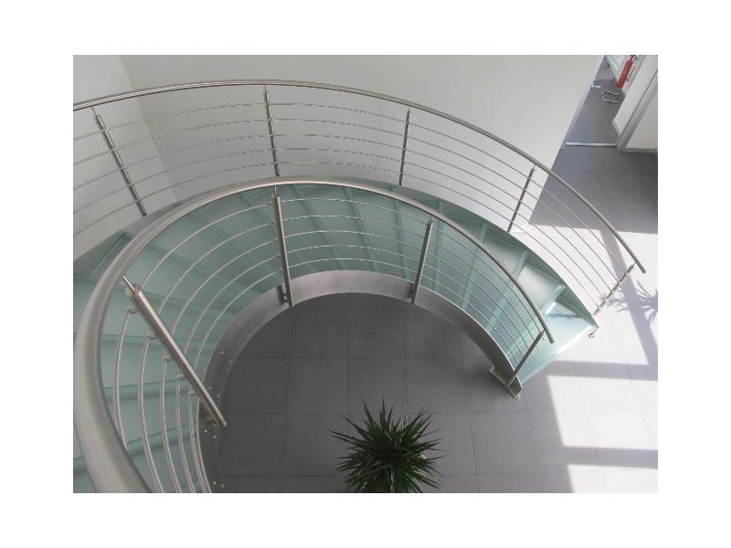 escalier balustrade inox design marches en verre  inoxdesign13