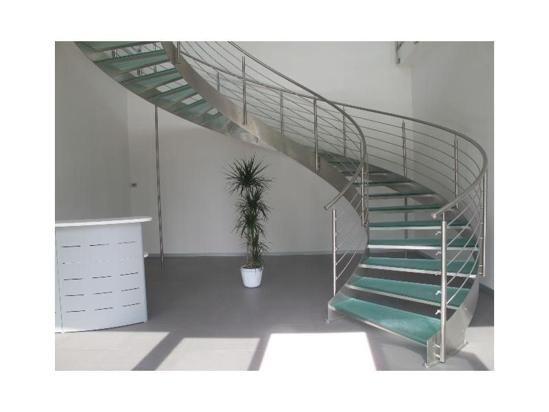 escalier balustrade inox design marches en verre  inoxdesign2