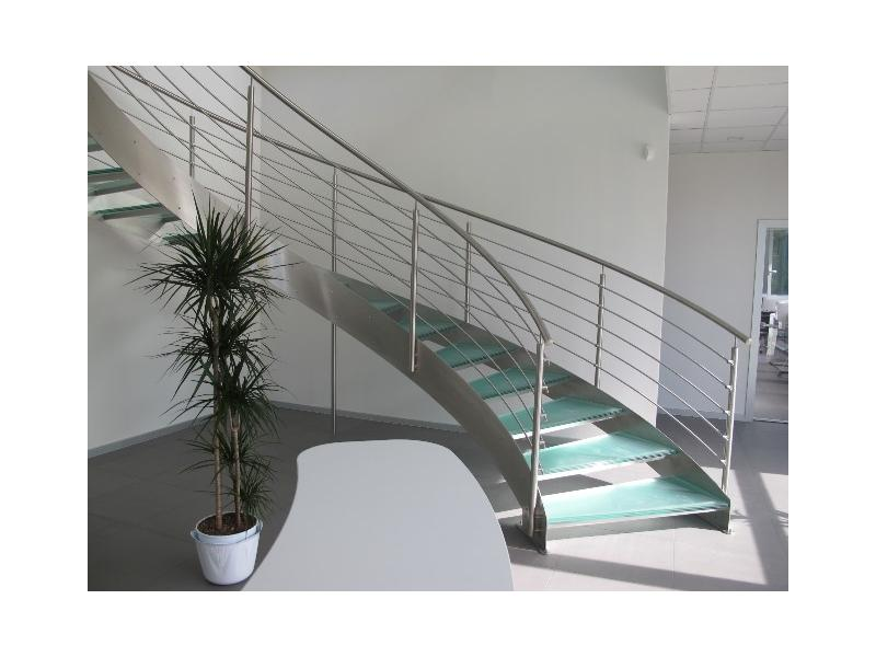 escalier balustrade inox design marches en verre  inoxdesign6