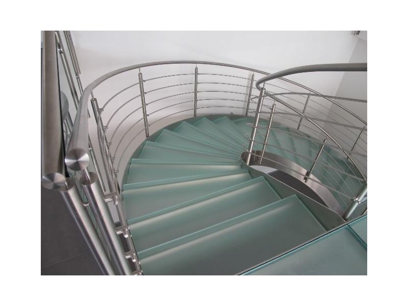 escalier balustrade inox design marches en verre  inoxdesign9
