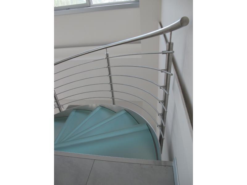 escalier inox design marches en verre  inoxdesign 3