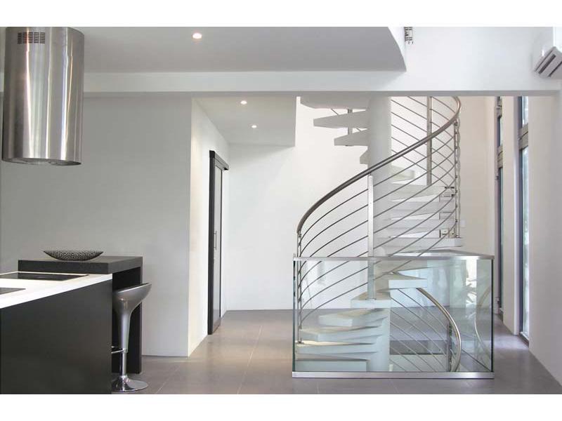 inox design garde corps escalier fixe fin2