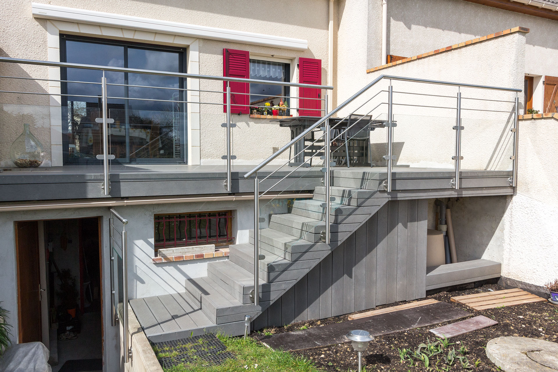 Garde corps inox designbalustrade terrasse ext rieure for Architecture suspendue