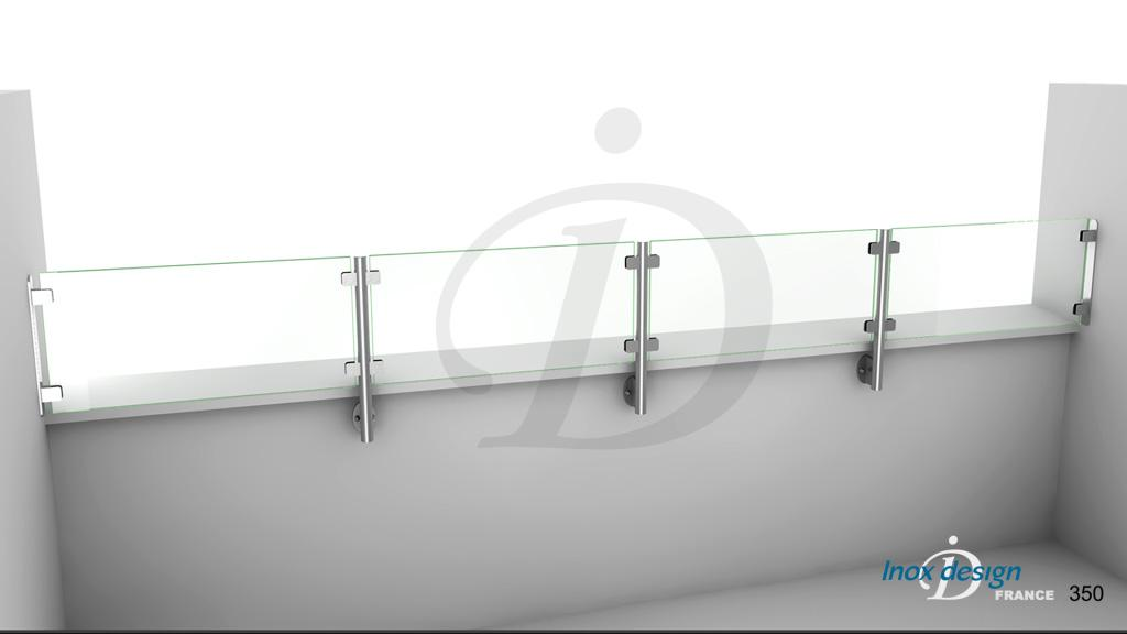 Garde corps balcon projets inoxdesign - Garde corps pour muret ...