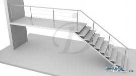Garde-Corps Escalier cable Extérieur