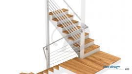 Garde-Corps Escalier inox à Barres