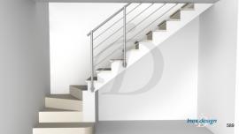 Garde-Corps Escalier inox sous Plafond