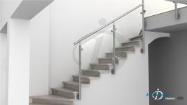 Garde-Corps Escalier Verre inox