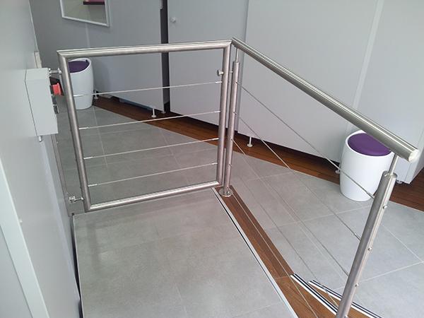 le portillon de balustrade ou garde corps