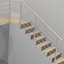 garde-corps escalier extérieur banque d'images projet inoxdesign