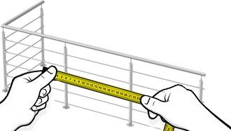 Balustrade Inox sur mesure en L