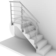 garde-corps intérieur escalier banque d'images projet inoxdesign