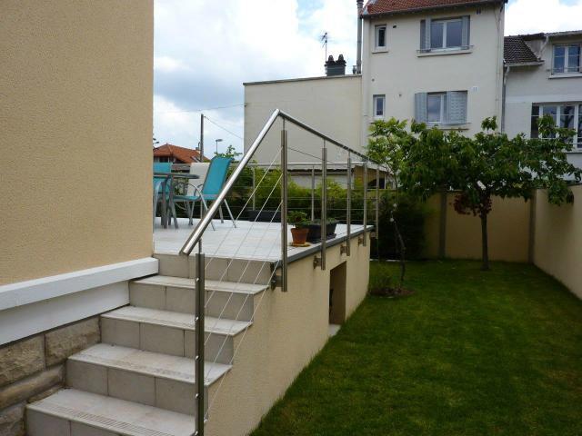 garde-corps cable escalier